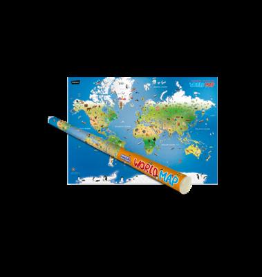 Children's Illustrated World Map