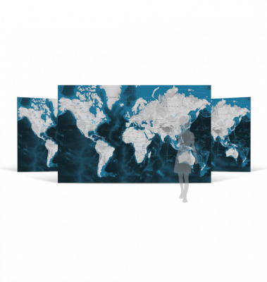 World Wall Map Deluxe Edition