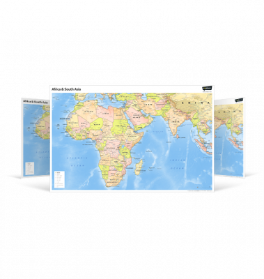 Africa and South Asia Wall Map