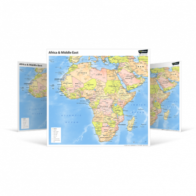Africa and Middle East Wall Map