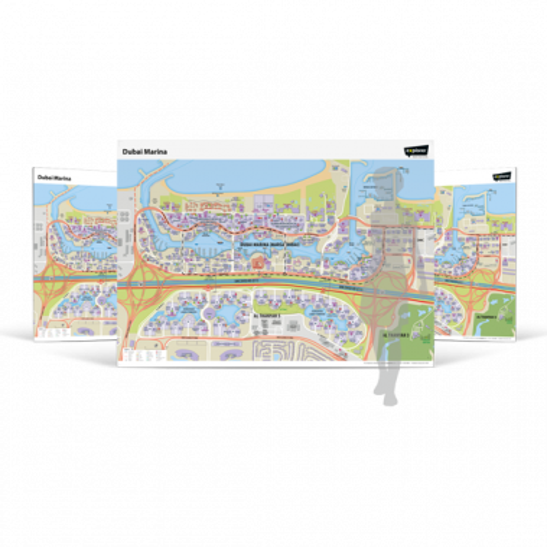 Dubai Marina Wall Map