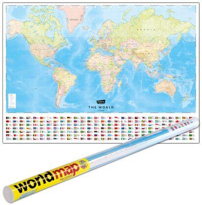 World Map (English) Folded