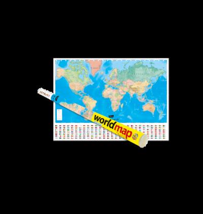 World Map (English) Rolled